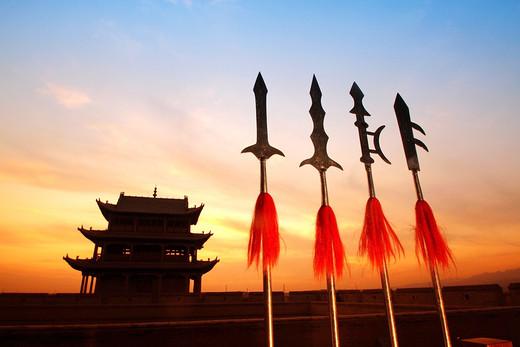 丝绸遗韵,青海湖大环线 (5)-老龙头,悬臂长城,关城,祁连山,玉门关