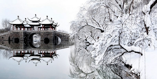 下雪后的中国,美哭了全世界-扬州,西安,苏州,西藏,北京