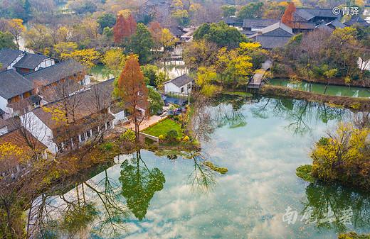 你的家乡冰天雪地了吗,我的家乡依然色彩斑斓,美若仙境-西溪湿地,杭州