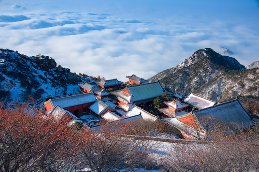 泰山雪景图-山东