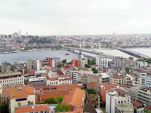 2017土耳其行记:伊斯坦布尔.2(入境、独立大街、加拉太塔、王子群岛、老皇宫)-金角湾-伊斯坦布尔,加拉塔大桥,托普卡帕宫