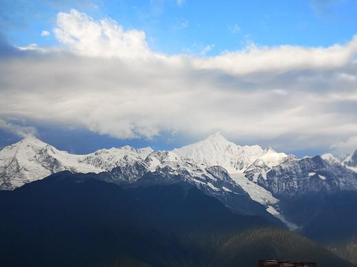 回看卡瓦格博神山依旧很震撼