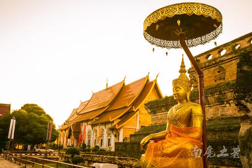 """什么时候去清迈契迪龙寺可以""""逃票"""",人少景又美-清迈古城,泰国"""