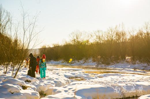 冰天雪地的大东北,竟然还有江南般的小河流水-塔河